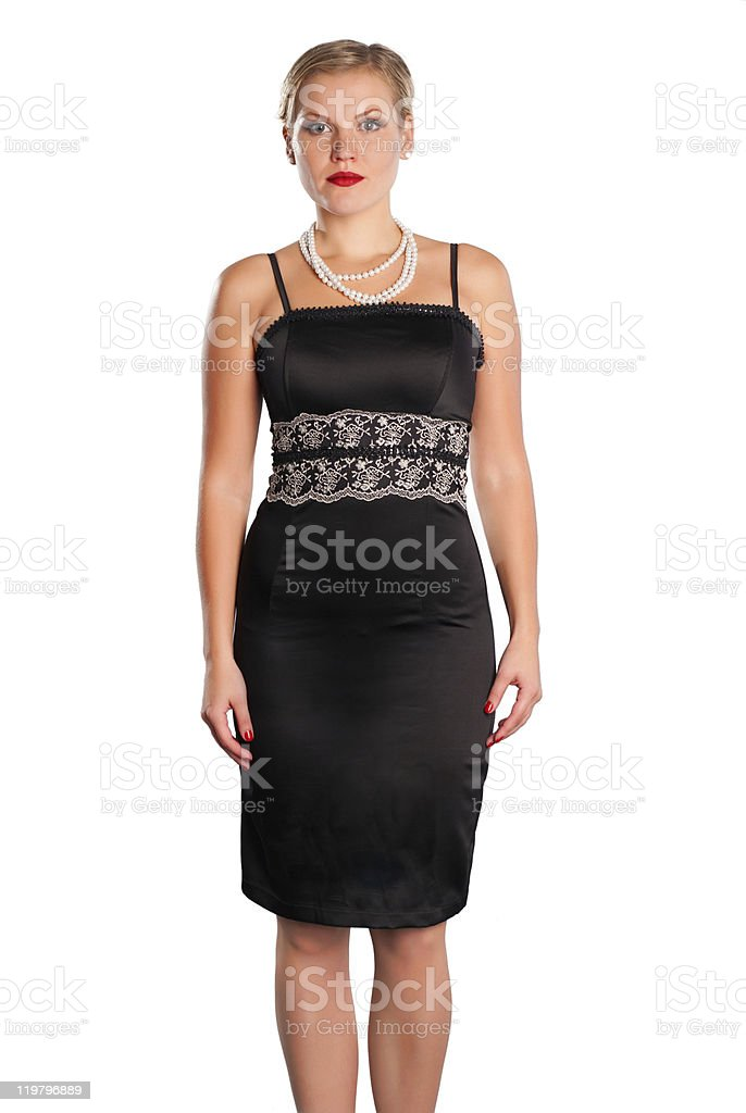Elegancy stylish glamour girl stock photo