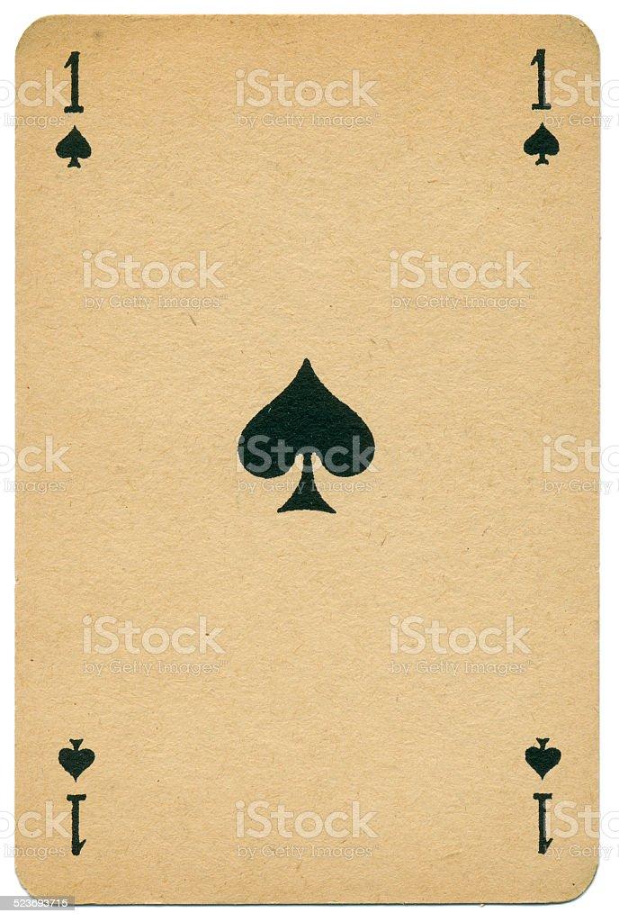 Elegant Ace of Spades Biermans playing card Belgium 1910 stock photo