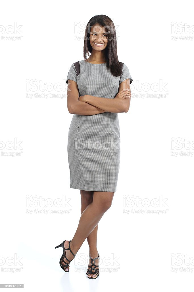 Elegant african american woman posing stock photo