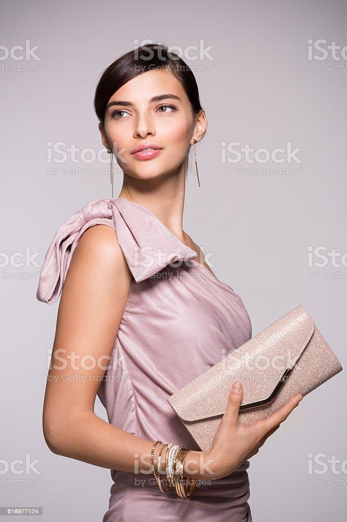 Elegant and fashion woman stock photo