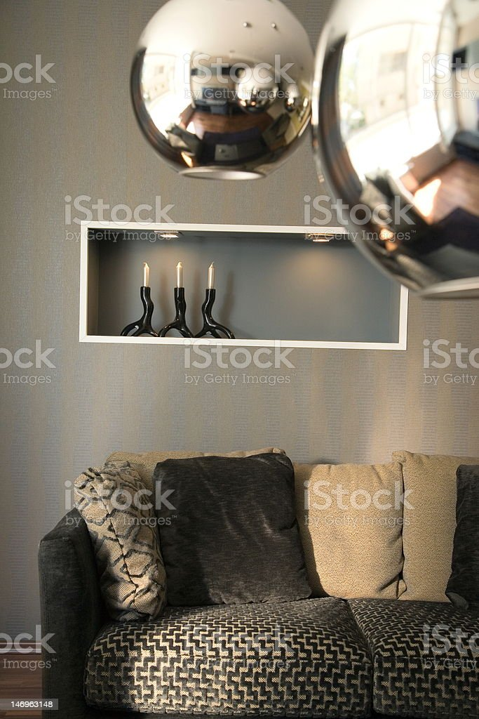 Elegant and luxury living room interior design royalty-free stock photo
