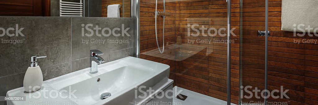 Elegant and modern bathroom stock photo