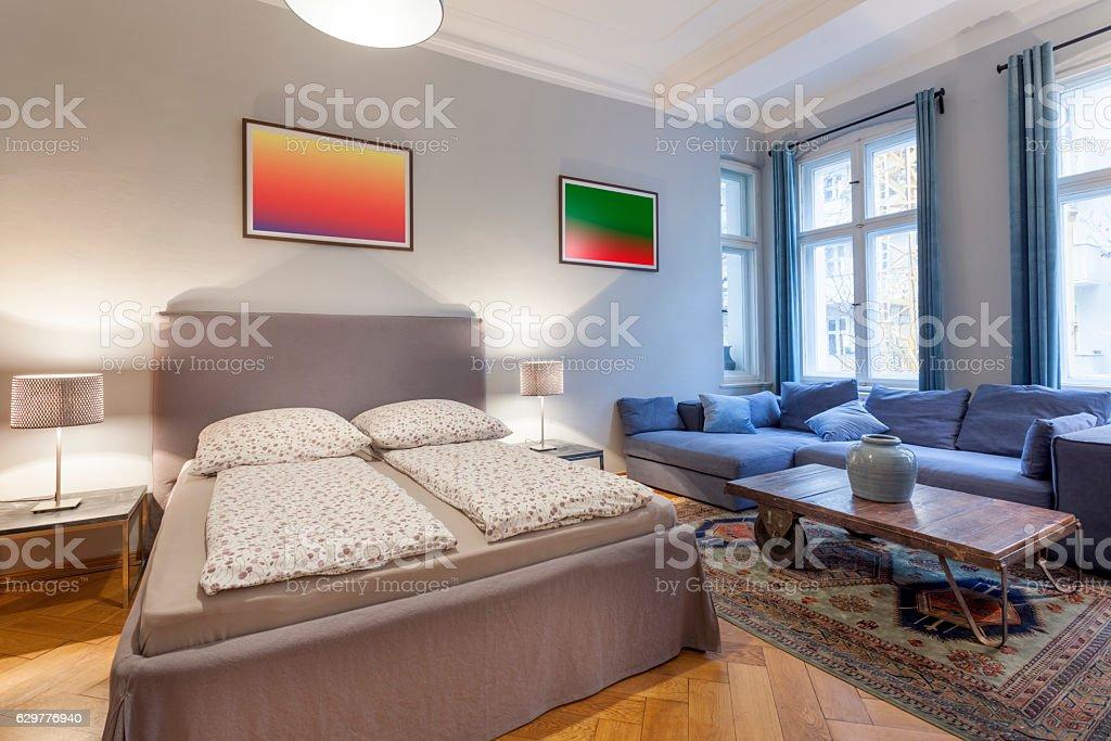 Elegant and Modern Hotel Room stock photo