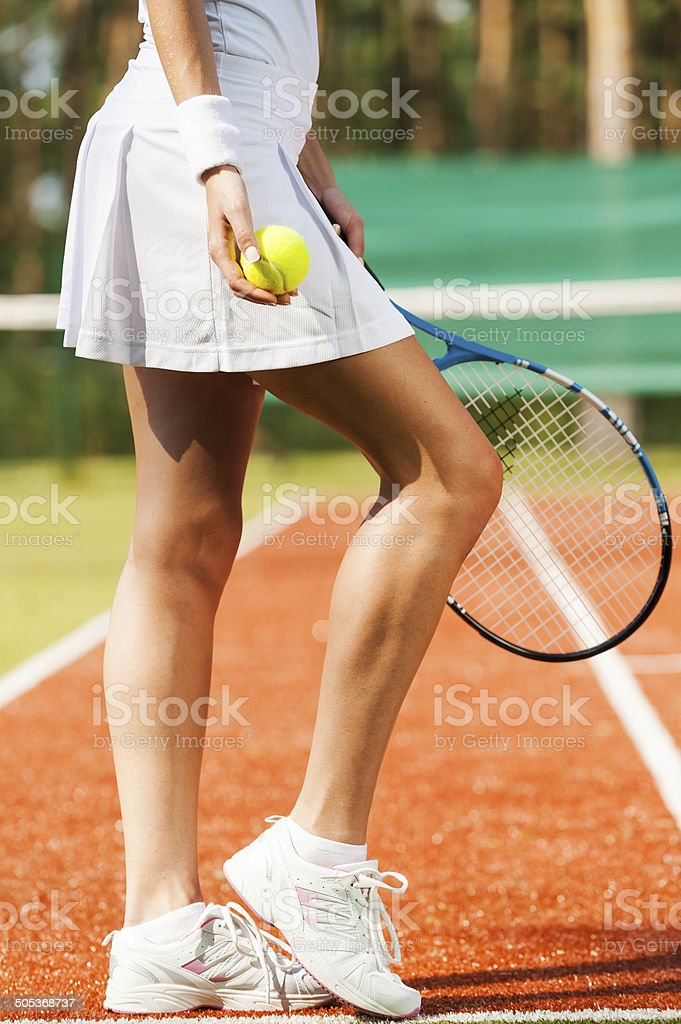 Elegant and sporty. stock photo