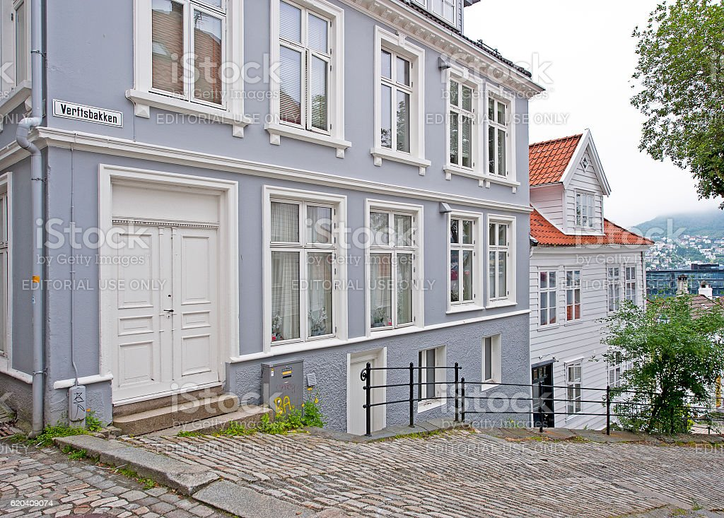 Elegant angles, Bergen, Norway stock photo