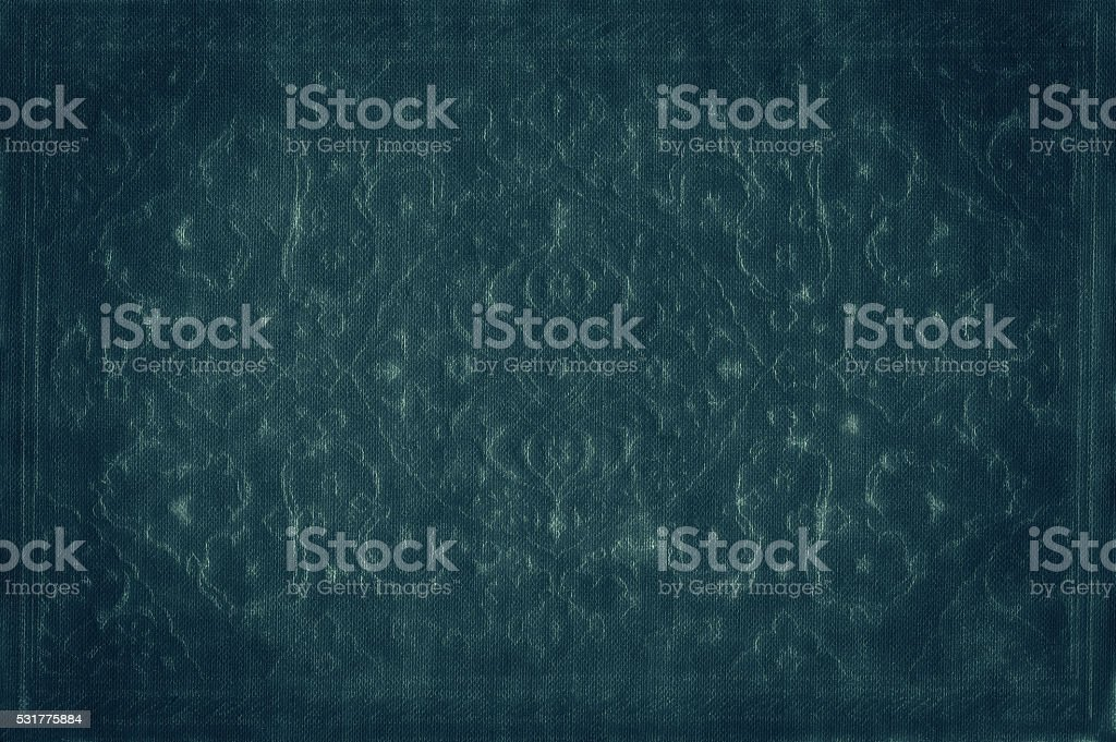 Elegant antique ornamental background in blue stock photo