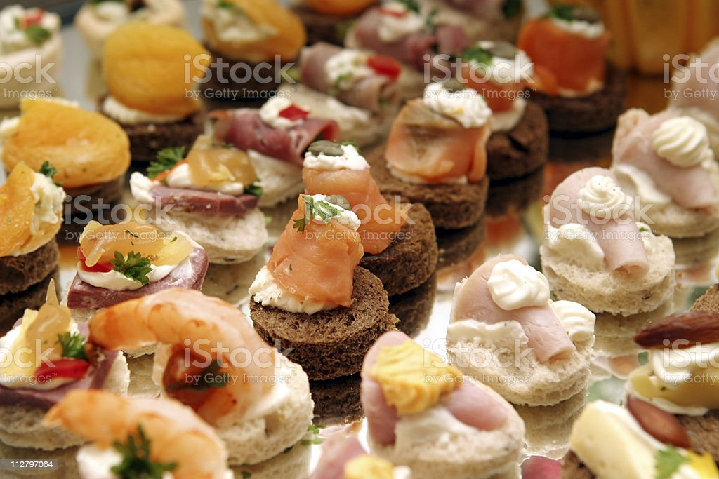 elegant appetizers stock photo