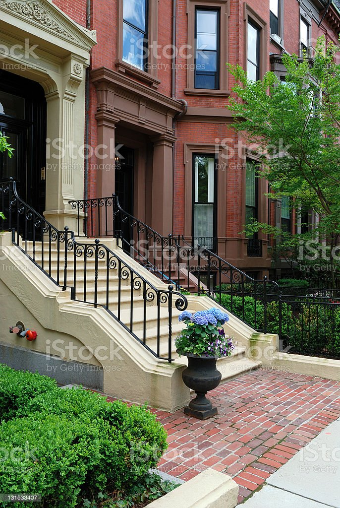Elegant Back Bay Townhouse royalty-free stock photo
