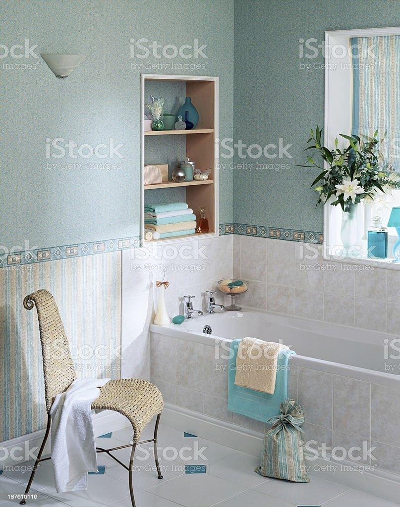 Elegant bathroom interior stock photo