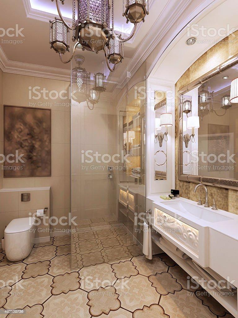 Bathroom moroccan style - Elegant Bathroom Moroccan Style Royalty Free Stock Photo