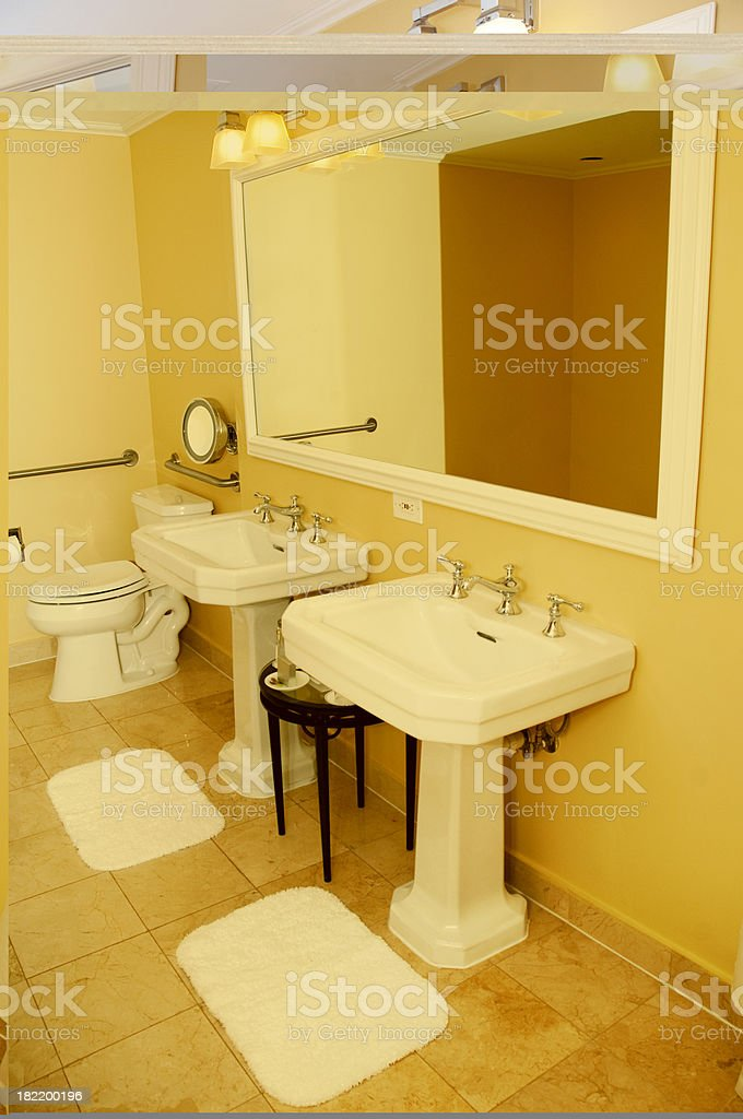 elegant bathroom stock photo