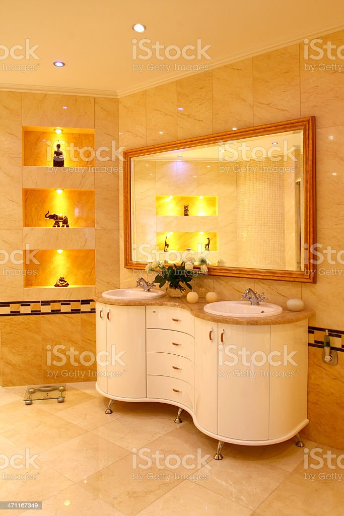 Elegant bathroom. royalty-free stock photo