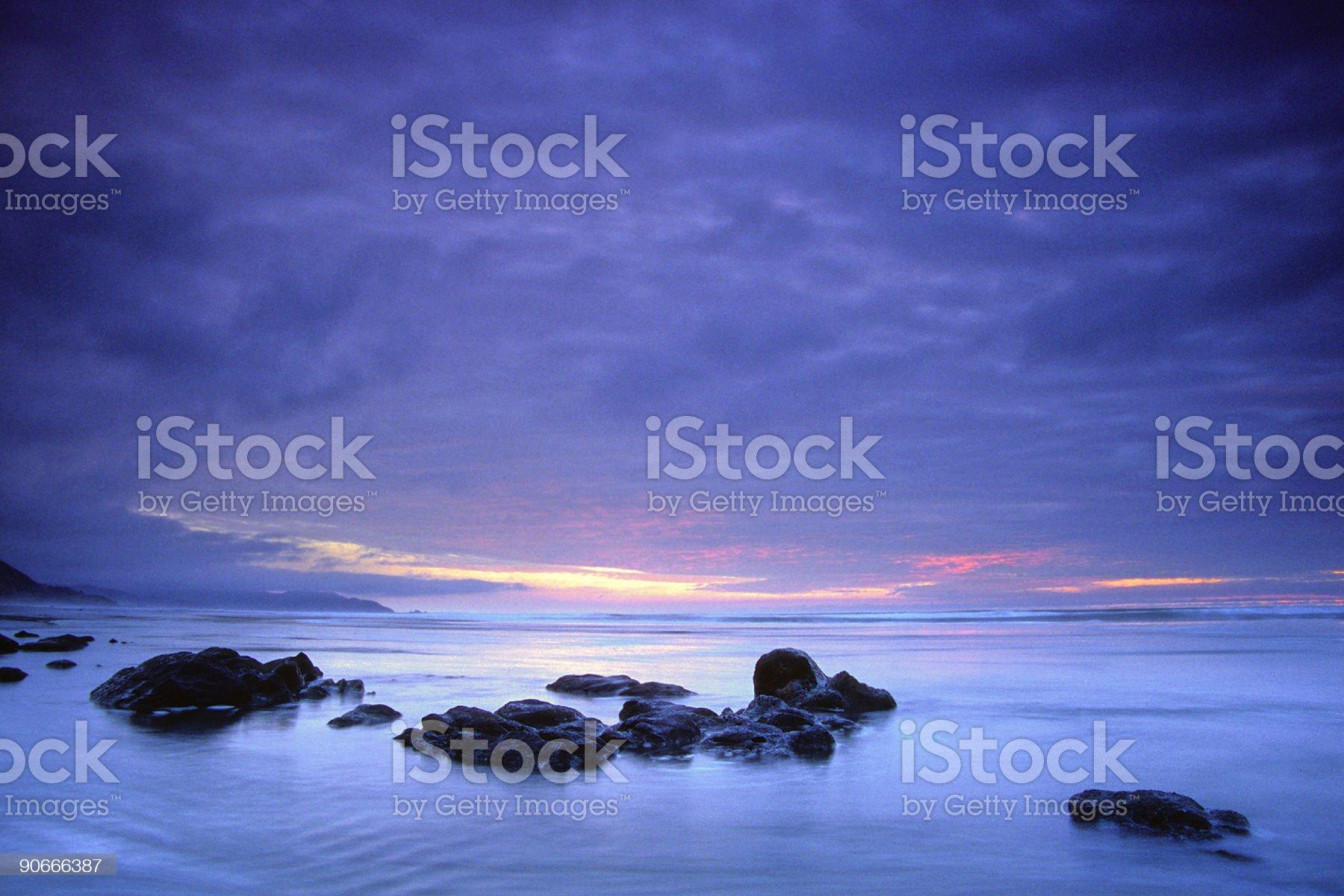 elegant beach sunset royalty-free stock photo