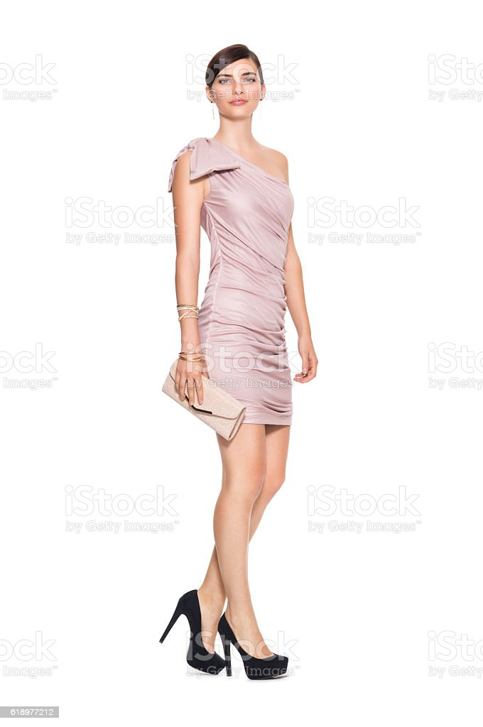 Elegant beautiful woman stock photo