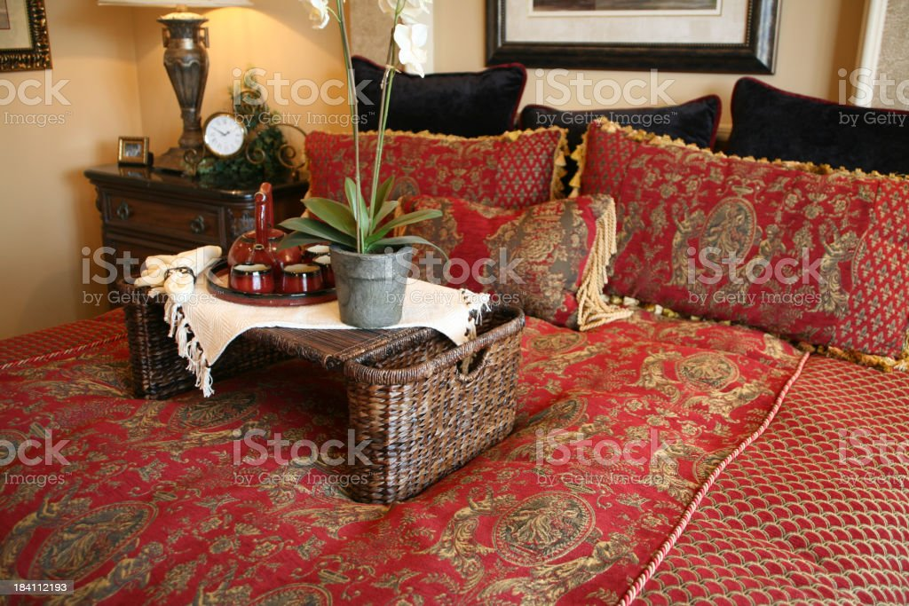 Elegant Bedroom at Tea Time royalty-free stock photo