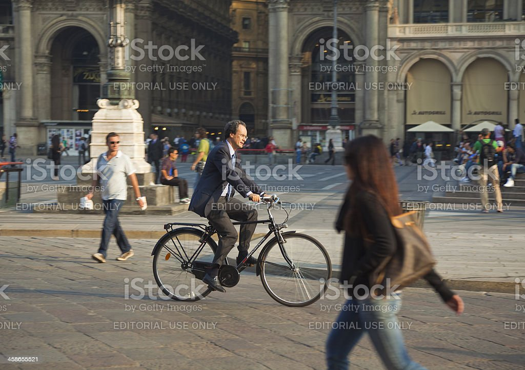 Elegant biker stock photo
