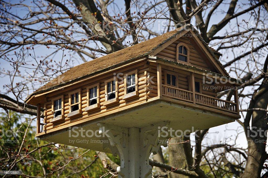 Elegant Birdhouse royalty-free stock photo