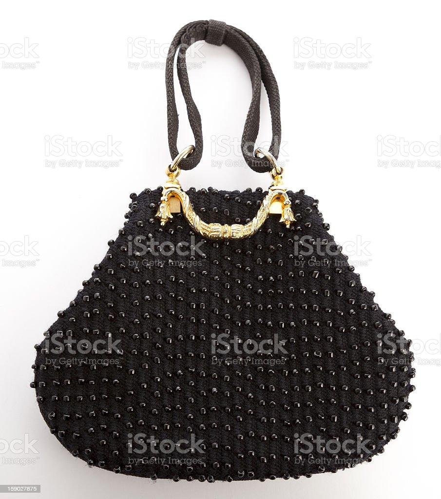 Elegant Black Hanbag stock photo