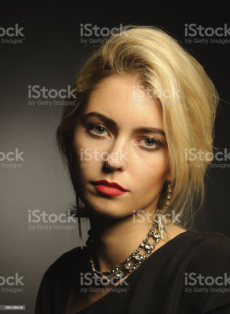 Elegant Blond Fashion Model royalty-free stock photo