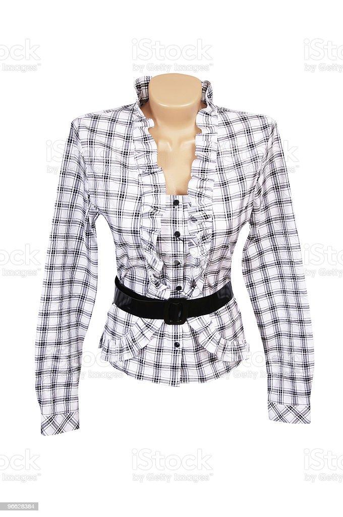 Elegant  blouse on a white. stock photo