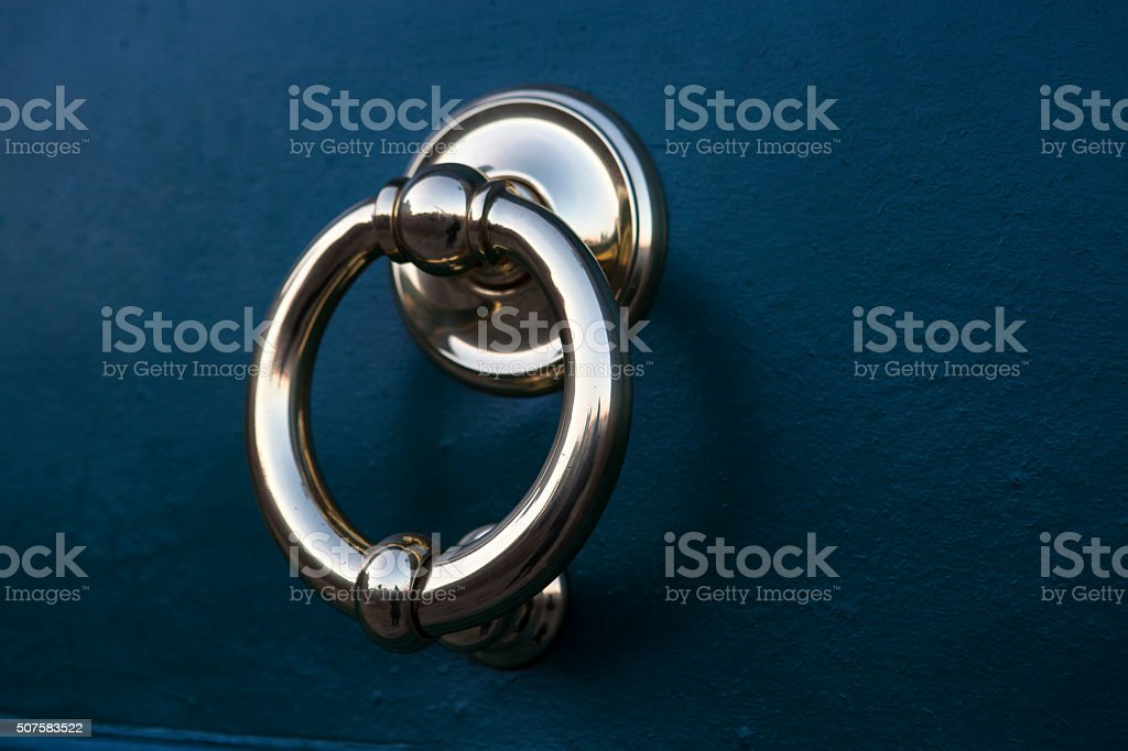 Elegant Brass Door Knocker stock photo