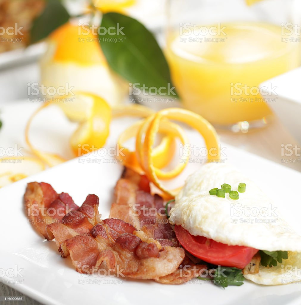 Elegant breakfast royalty-free stock photo