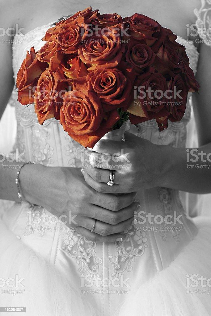 Elegant Bride Bouquet royalty-free stock photo