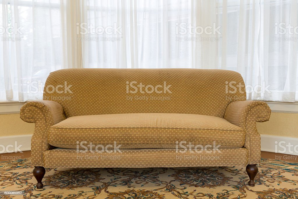 Elegant Brown Couch at the Living Area stock photo