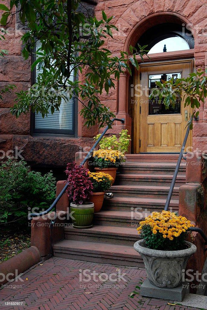 Elegant Brownstone Entrance royalty-free stock photo