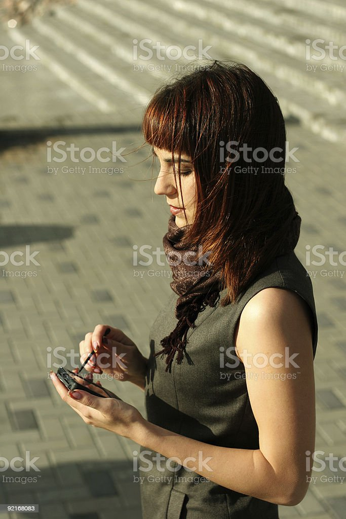 Elegant brunette royalty-free stock photo