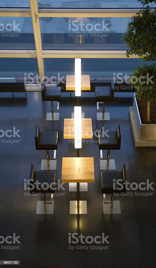 Elegant business bar in an airport royalty-free stock photo