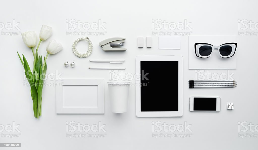 Elegant business essentials stock photo