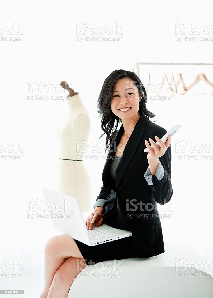 Elegant business woman royalty-free stock photo