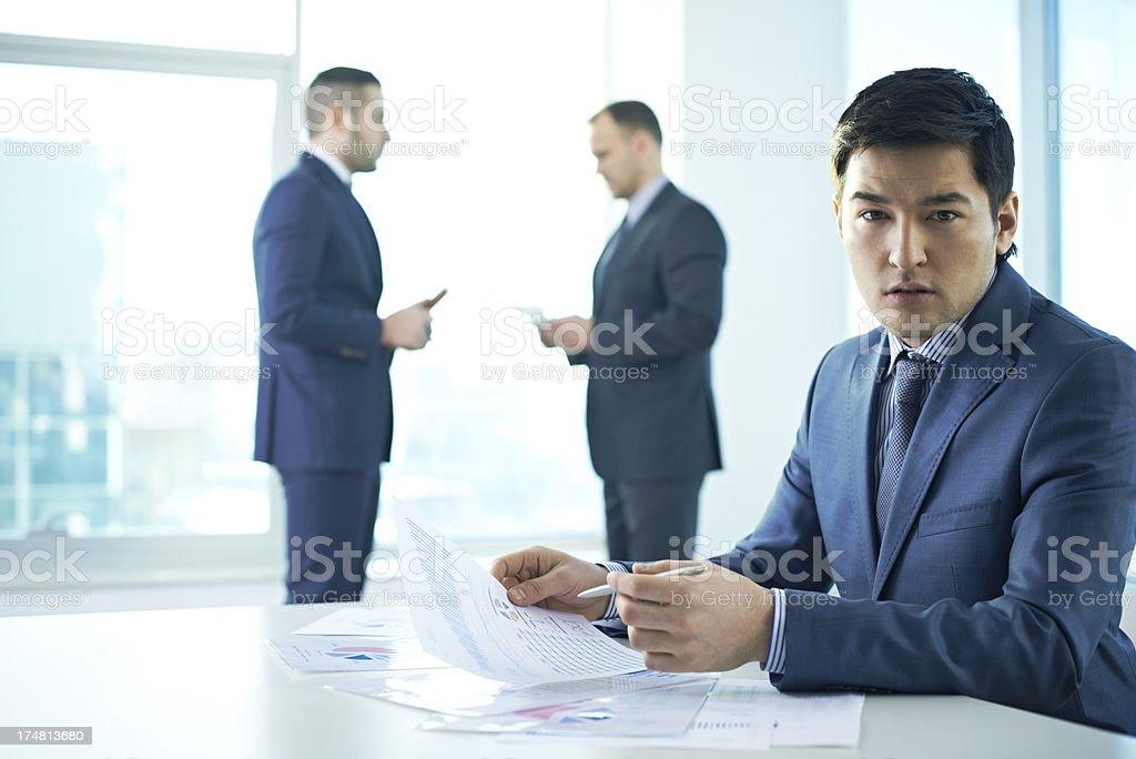 Elegant businessman royalty-free stock photo