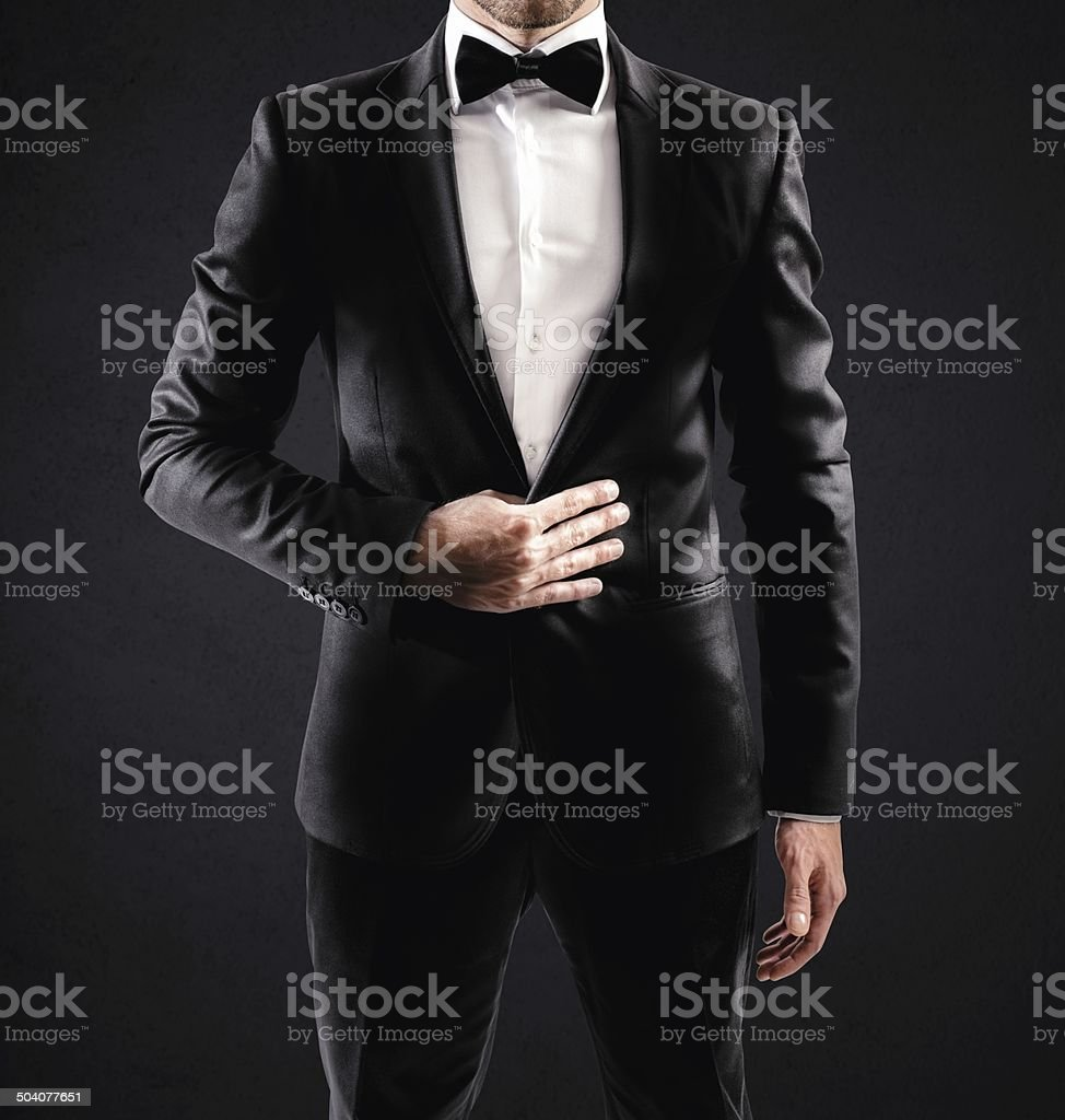 Elegant businessman stock photo