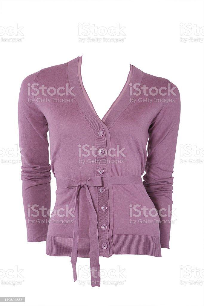 Elegant cashmere female cardigan stock photo