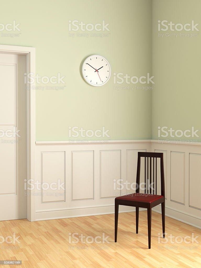 Elegant Chair in Empty Room stock photo