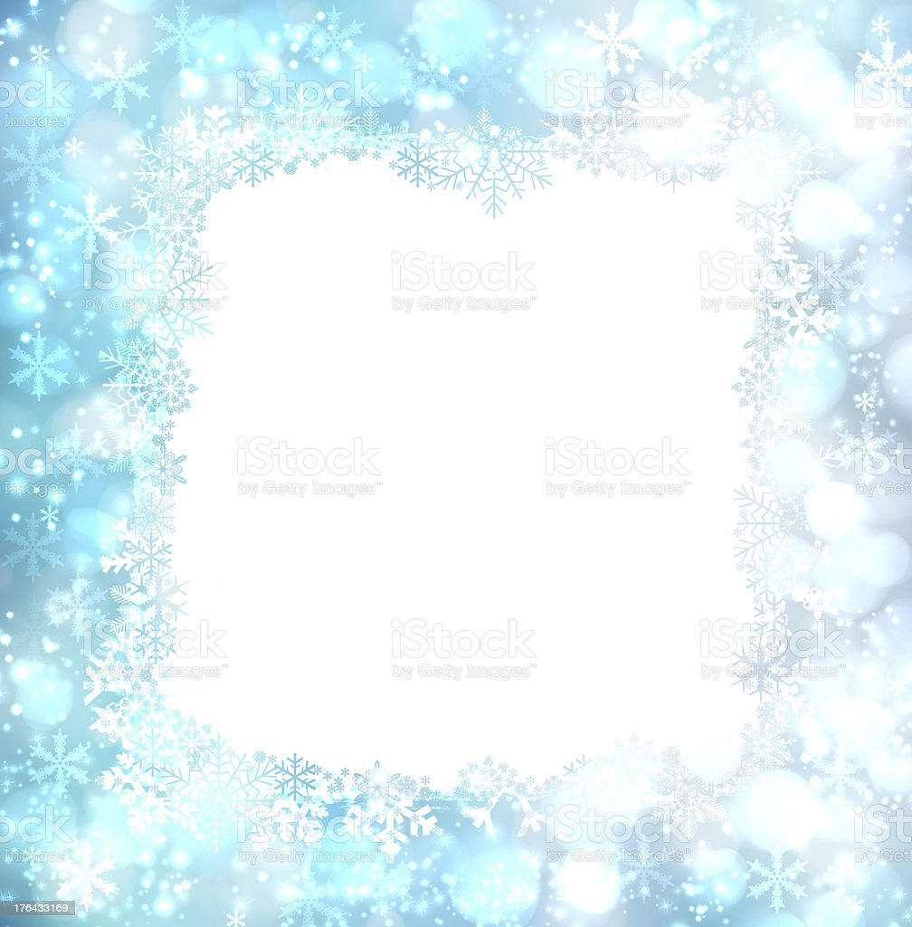 Elegant Christmas background with snowflakes and place for text royalty-free stock photo