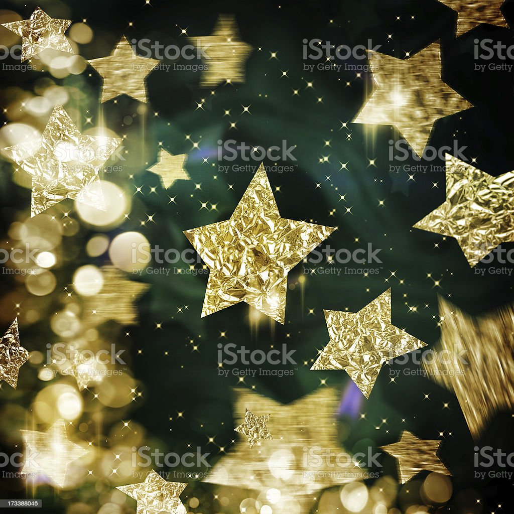 Elegant Christmas background with stars royalty-free stock photo