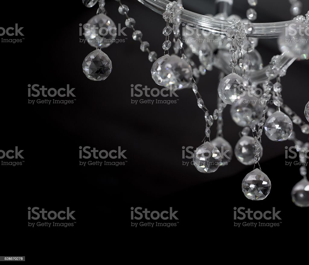 Elegant Chrystal chandelier stock photo