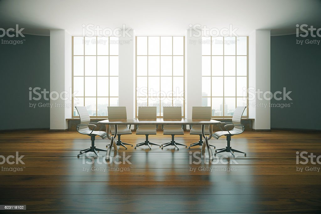 Elegant conference room stock photo