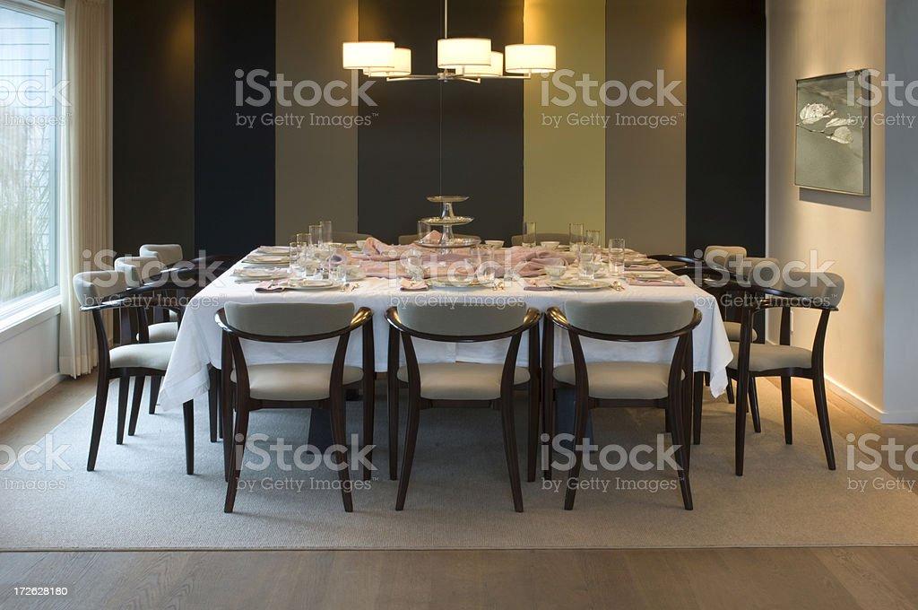 Elegant Contemporary Dining Room royalty-free stock photo
