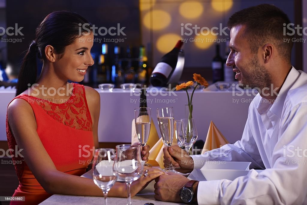 Elegant couple having dinner royalty-free stock photo