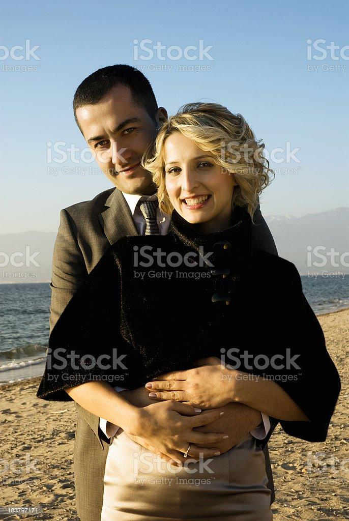 Elegant Couple on the beach royalty-free stock photo