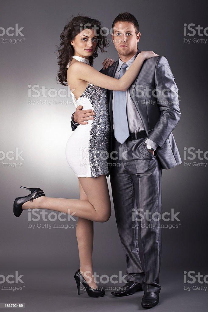 Elegant couple royalty-free stock photo