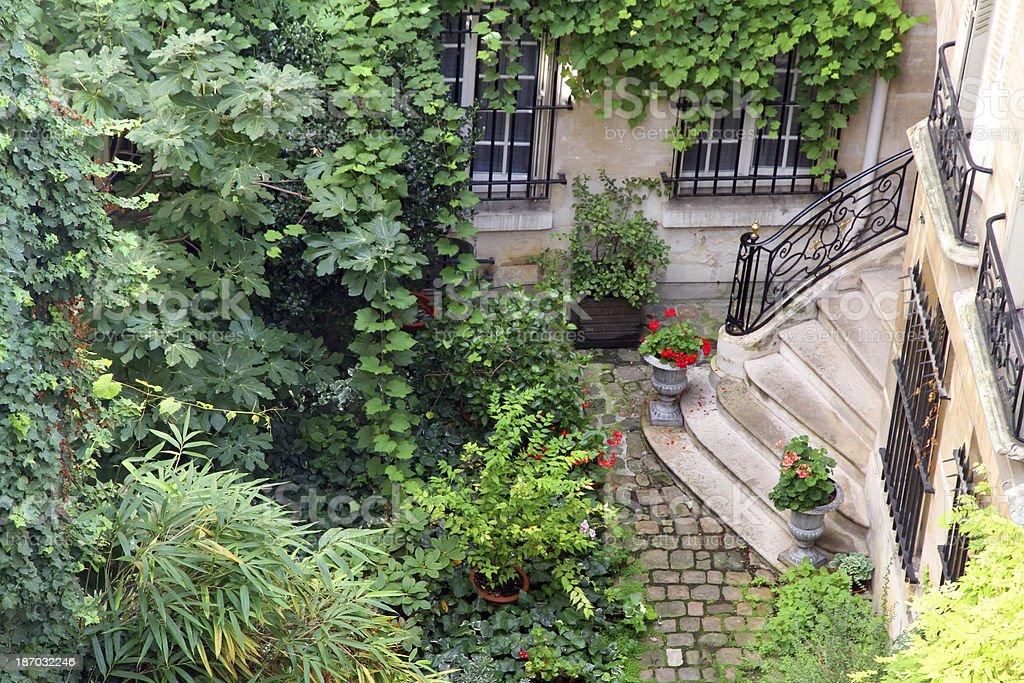 Elegant Courtyard stock photo