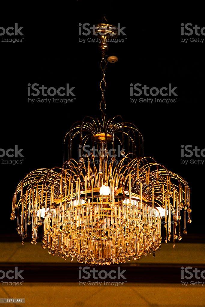 elegant crystal chandelier royalty-free stock photo