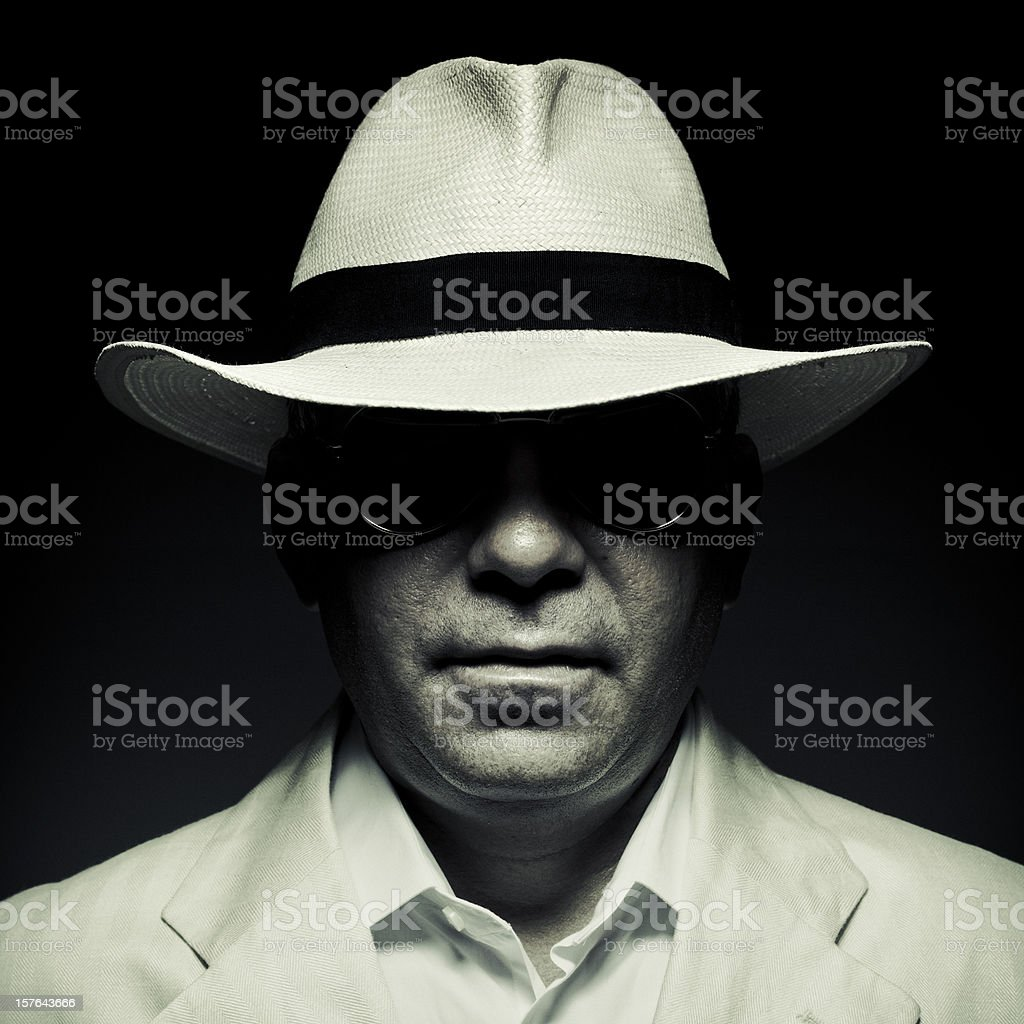 elegant cuban mysterious man stock photo
