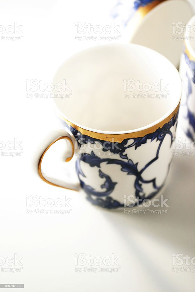 Elegant Cup/ Mug  Hand painted royalty-free stock photo