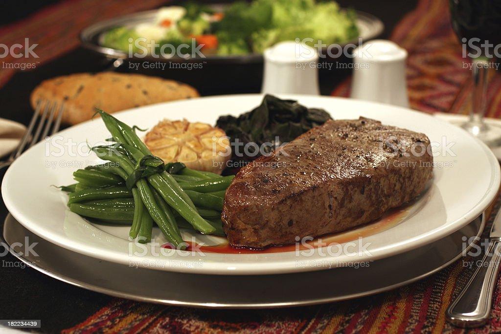 Elegant delicious steak stock photo